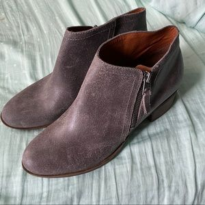 Lucky brand grey bootie size 10